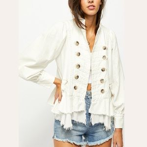 Free People Ariana Jacket in White.